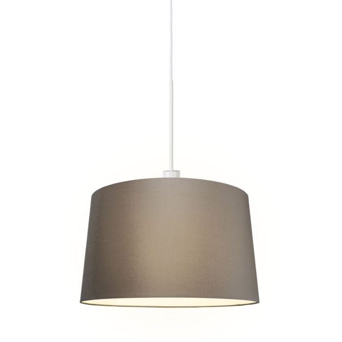 Modern-Pendant-Lamp-White-with-45cm-Taupe-Shade---Combi-1