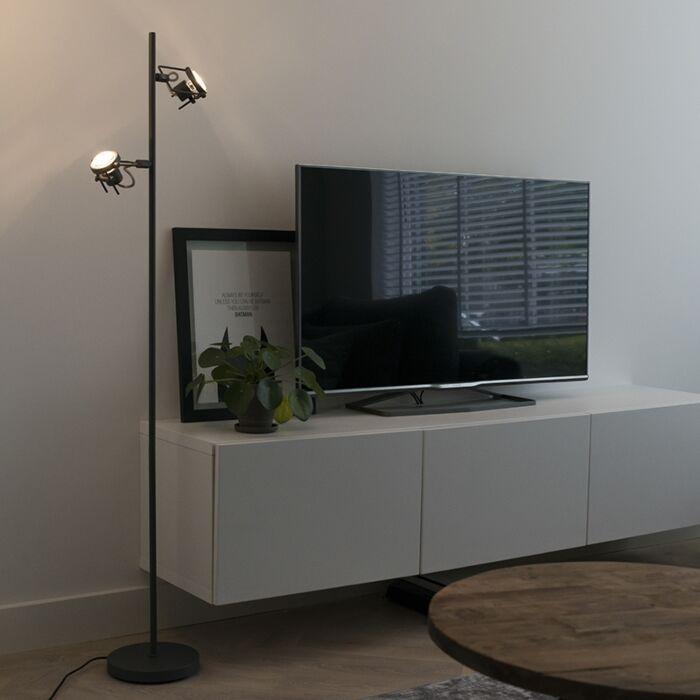 Industrial-floor-lamp-anthracite-2-lamps---Suplux