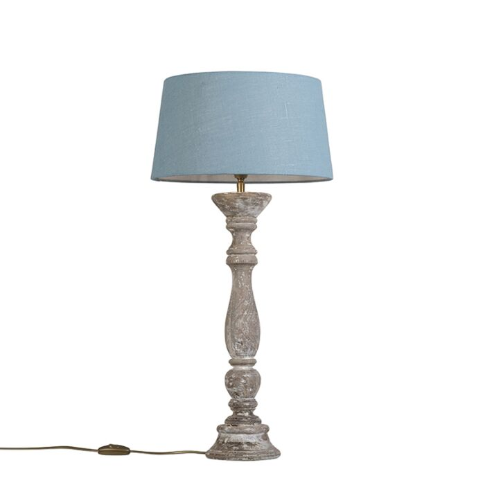 Table-Lamp-Ritual-White-with-Shade-35cm-Blue