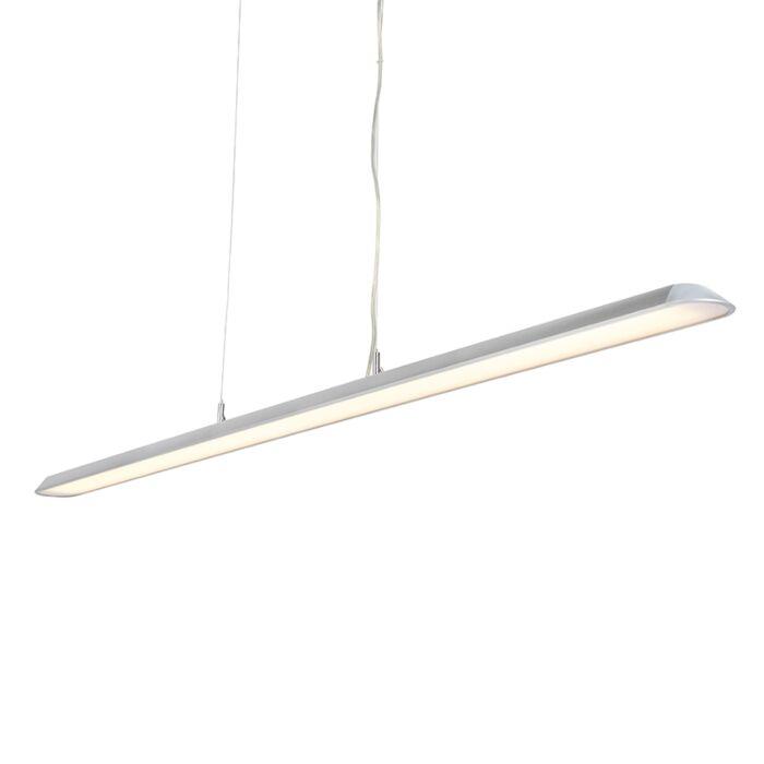 Modern-Pendant-Lamp-160cm-Silver-incl.-LED---Duct-S