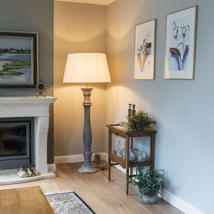 Floor-Lamp-Ritual-Grey-with-Shade-70cm-White