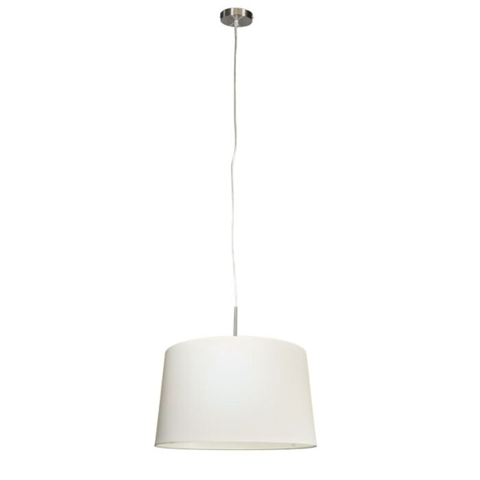 Modern-hanging-lamp-steel-with-shade-45cm-white---Combi-1