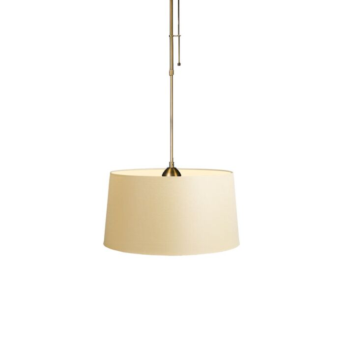 Pendant-Lamp-Mix-1-Bronze-with-Dimmer-Switch-and-Cream-Shade