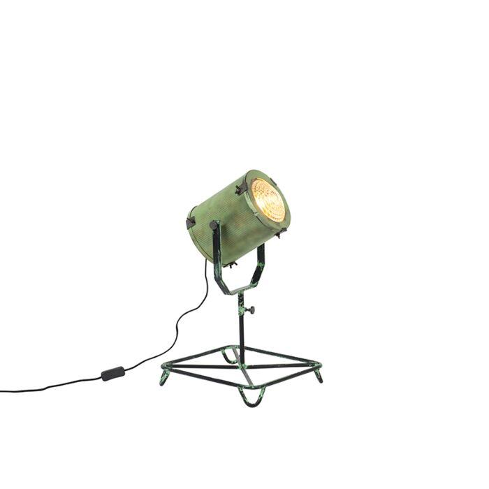 Vintage-Film-Spotlight-Table-Lamp-Antique-Green-60cm---Brooke