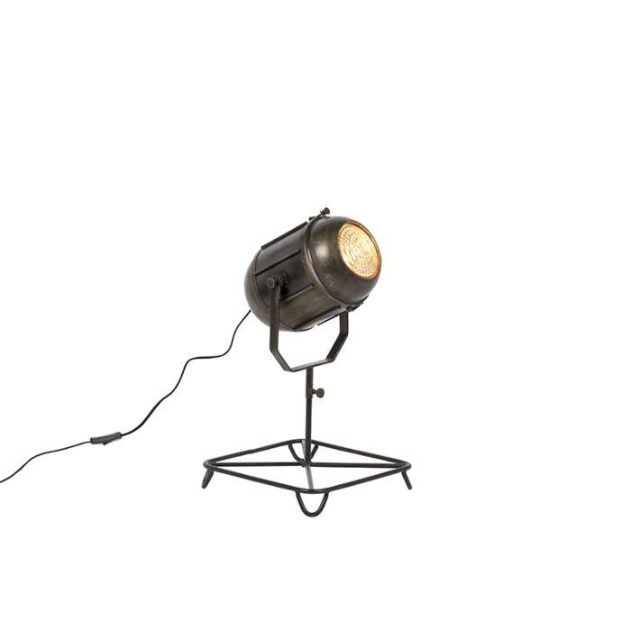 Vintage-Film-Spotlight-Table-Lamp-Antique-Bronze-60cm---Broca