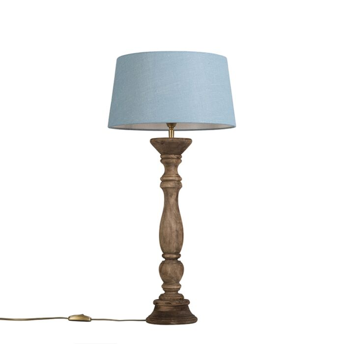 Table-Lamp-Ritual-Natural-with-Shade-35cm-Blue