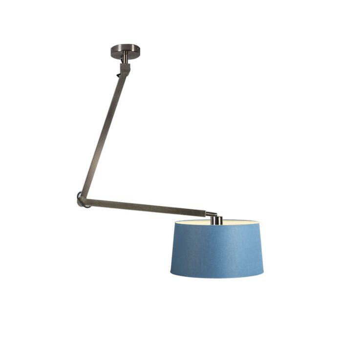 Pendant-Lamp-Accio-Steel-with-Blue-Shade