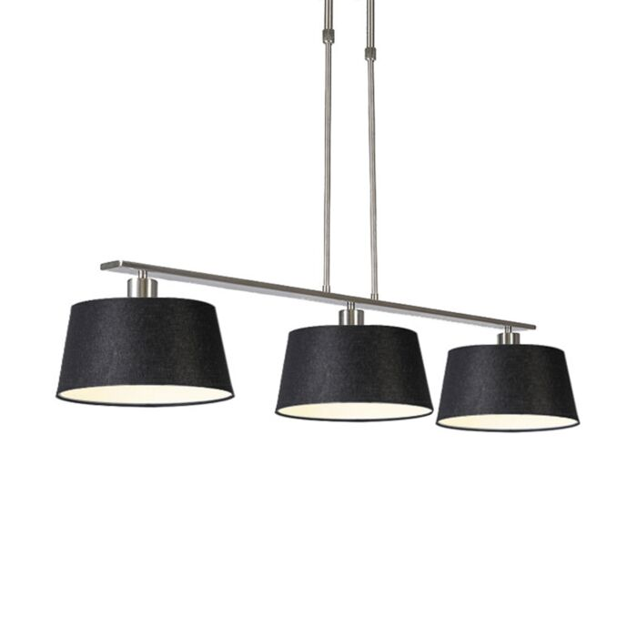 Modern-hanging-lamp-black-steel-with-shade-35-cm---Combi-3-Deluxe