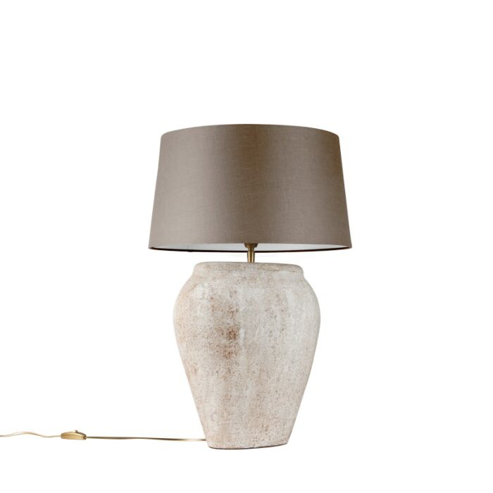 Table-Lamp-Blava-Oval-Scotch-with-Taupe-Shade