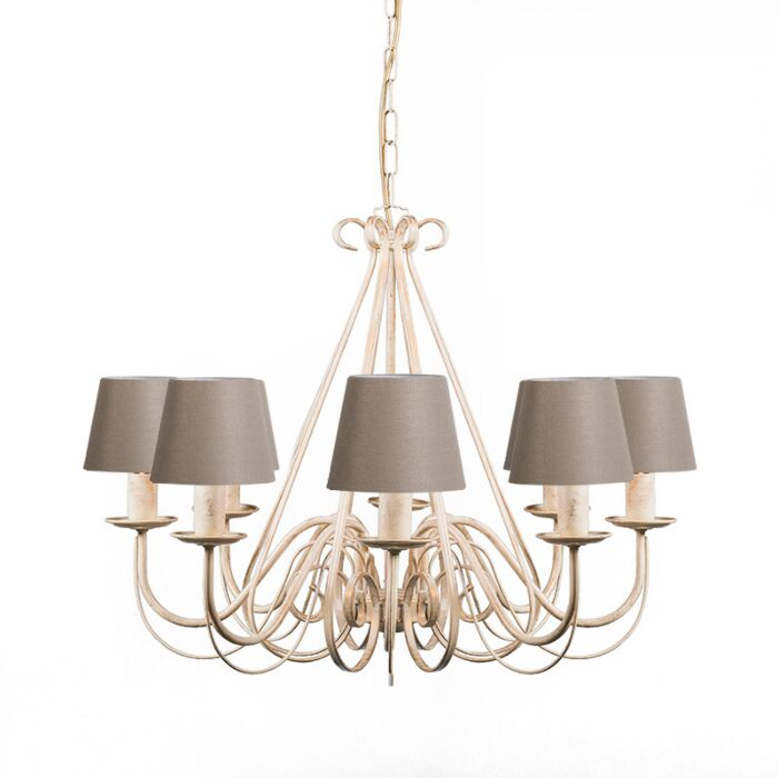 Chandelier-cream-60-cm-with-taupe-clamp-caps---Giuseppe-8