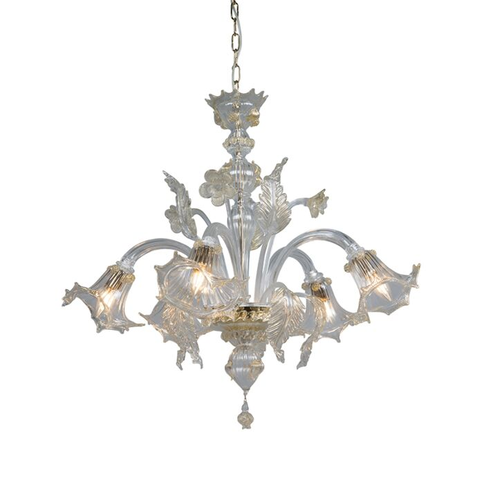 Chandelier-Accademia-5-Down-Crystal-with-Gold-Accents
