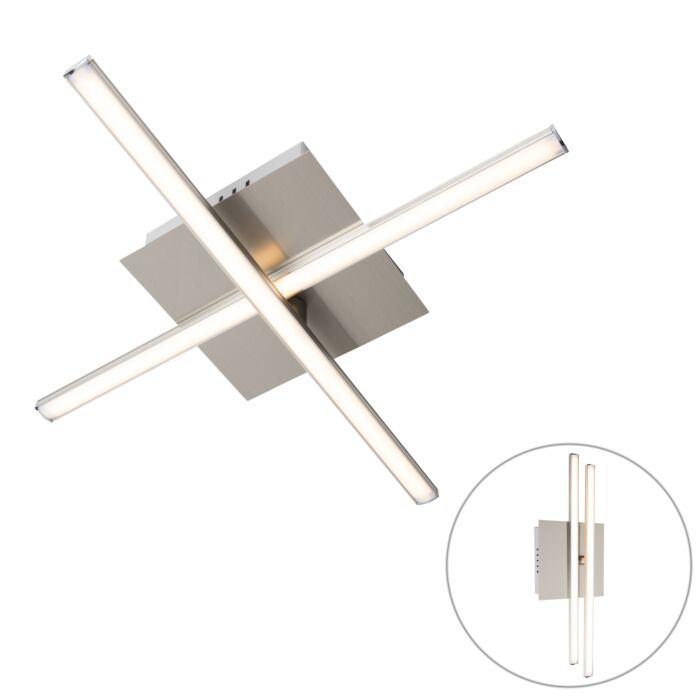 Modern-ceiling-lamp-steel-LED-rotatable---Cruz