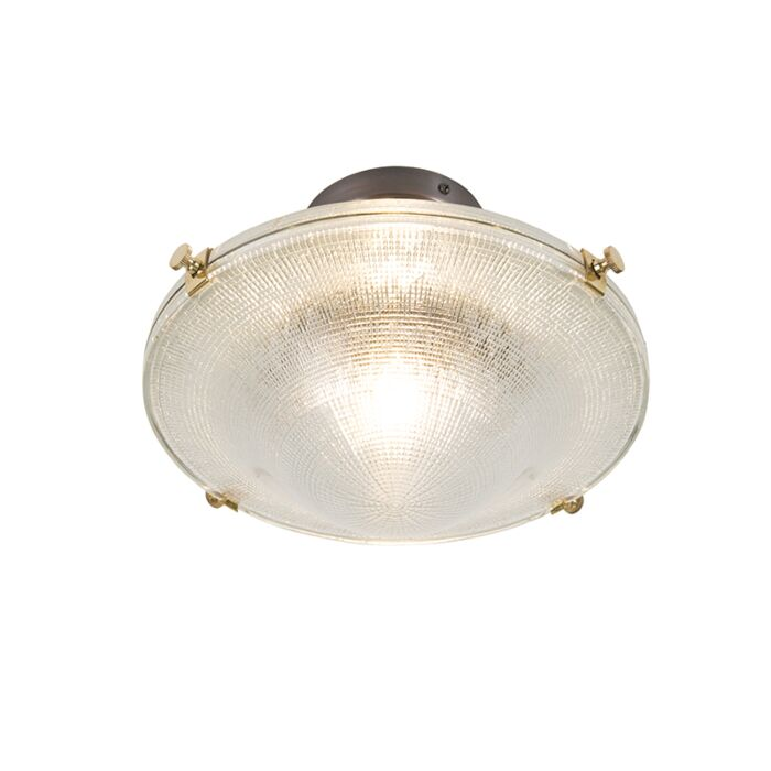 Retro-ceiling-lamp-copper-with-vintage-clear-glass---Anjar