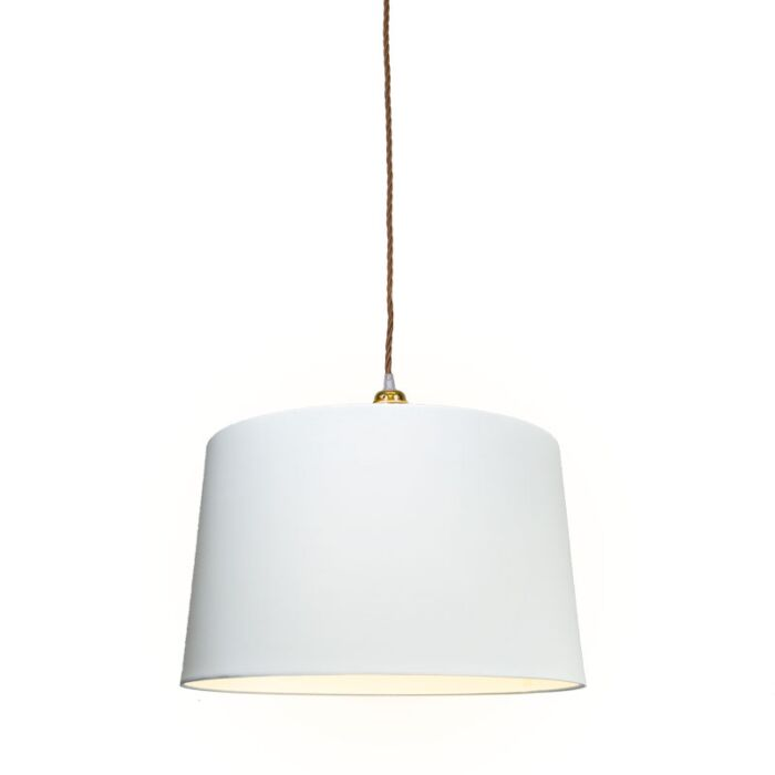 Pendant-Lamp-Cavo-Classic-Gold-Brown-with-45cm-White-Shade