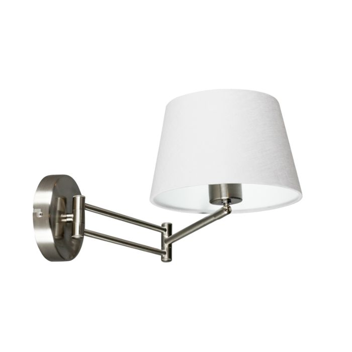 Wall-Lamp-Combi-Adjustable-Steel-with-White-Shade