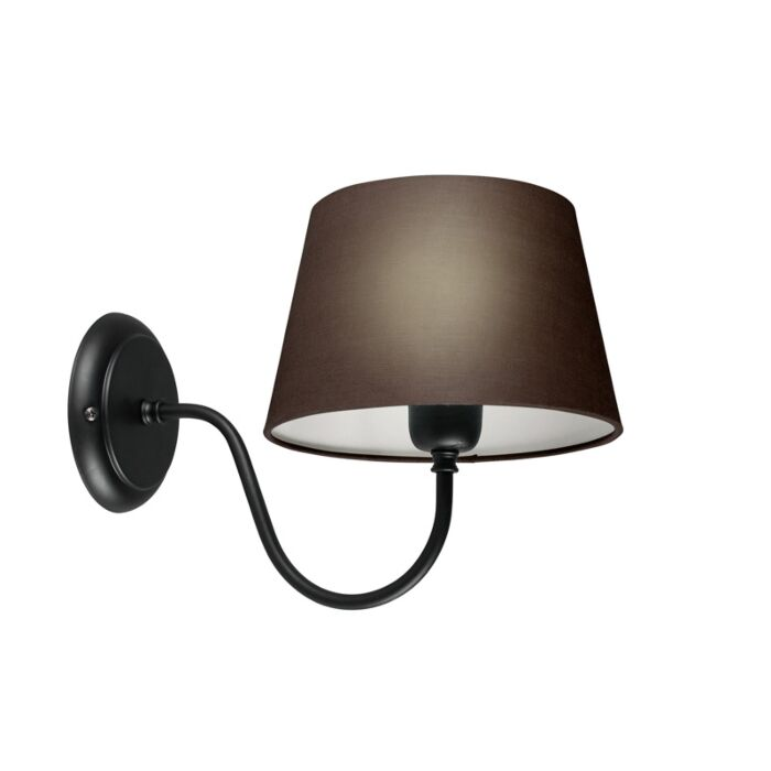 Wall-Lamp-Combi-Classic-Black-with-Brown-Grey-Shade