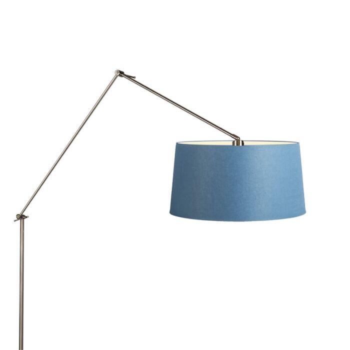 Floor-Lamp-Editor-Steel-with-Blue-Shade-45cm