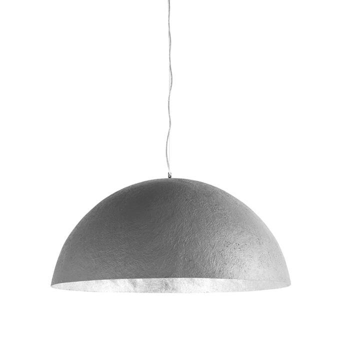 Pendant-Lamp-Magna-70-Faux-Concrete-with-Silver