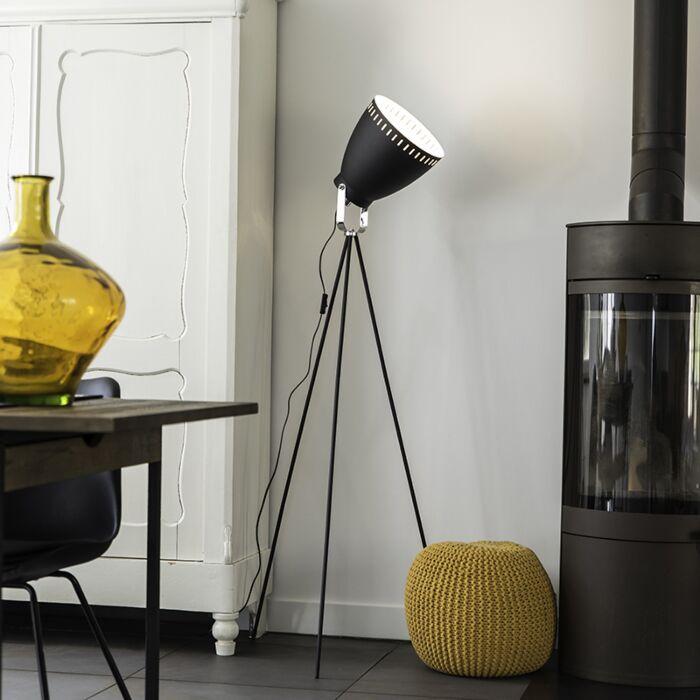 Floor-Lamp-Tripod-Karo-Black