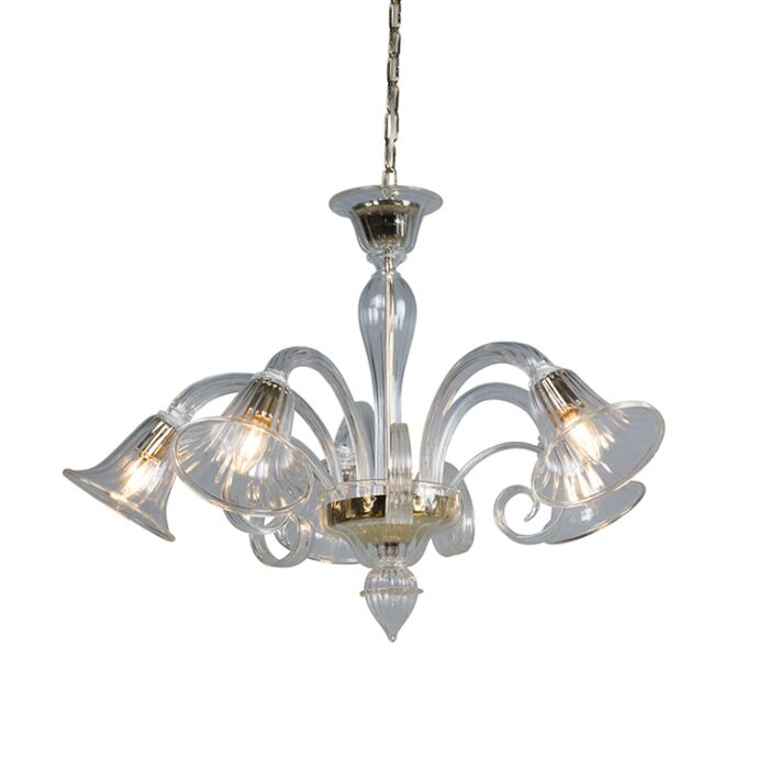 Chandelier-Rialto-5-Down-Crystal-with-Gold-Accents