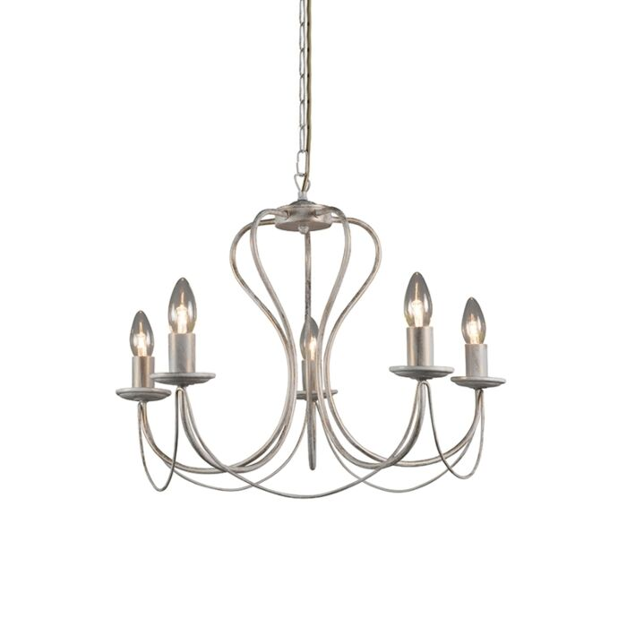 Antique-chandelier-cream-with-gold-5-lights---Como-5