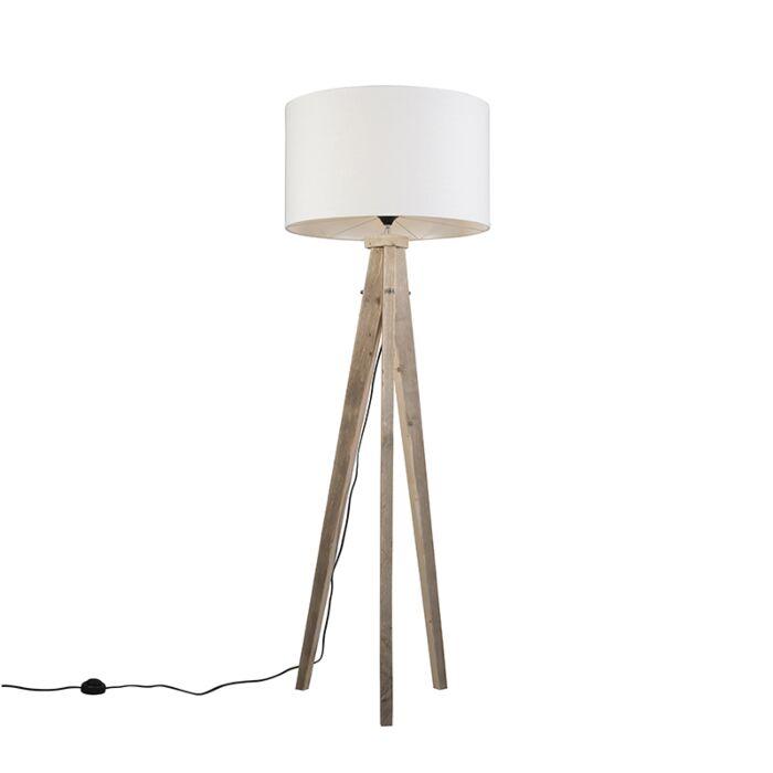 Floor-Lamp-Tripod-Karos-Natural-with-Shade-55cm-White