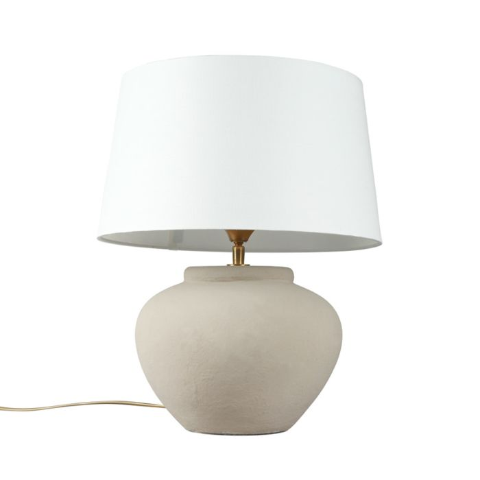 Table-Lamp-Palma-XS-Grey-with-White-Shade
