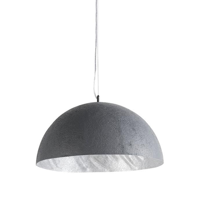 Pendant-Lamp-Magna-50-Faux-Concrete-with-Silver