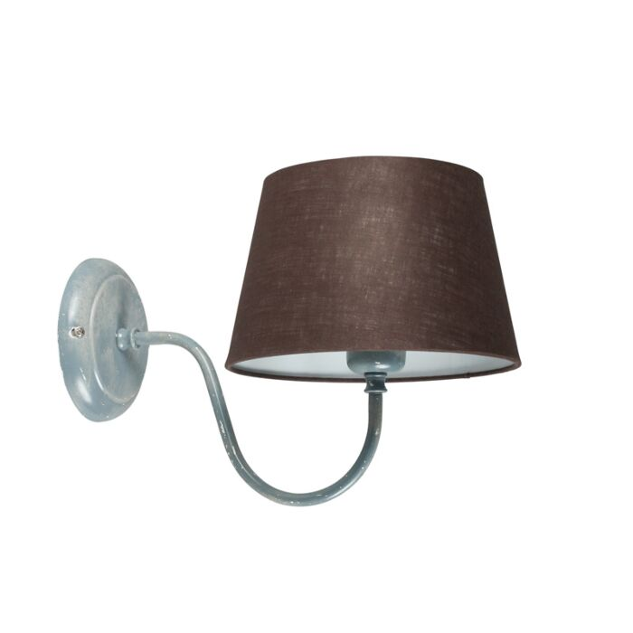 Wall-Lamp-Combi-Classic-Grey-with-Brown-Grey-Shade