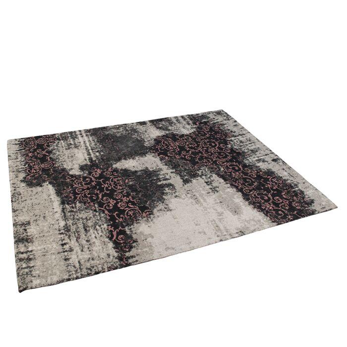 Vintage-Rug-Pattern-Black/Beige/Pink-160x230cm---Puri