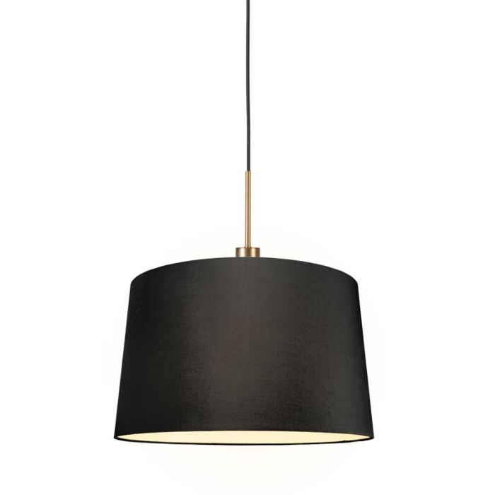 Modern-hanging-lamp-bronze-with-shade-45-cm-black---Combi-1
