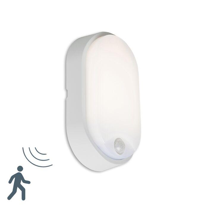 Wall-Lamp-Hortus-Oval-LED-Grey-with-PIR-Sensor