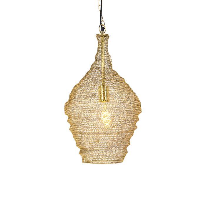 Oriental-Pendant-Lamp-30cm-Gold---Nidum