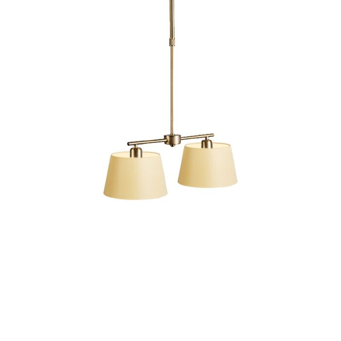 Pendant-Lamp-Mix-2-Bronze-with-Dimmer-Switch-and-Cream-Shade