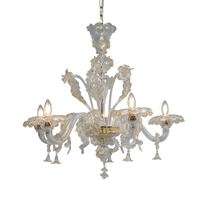 Chandelier-Accademia-5-Up-Crystal-with-Gold-Accents