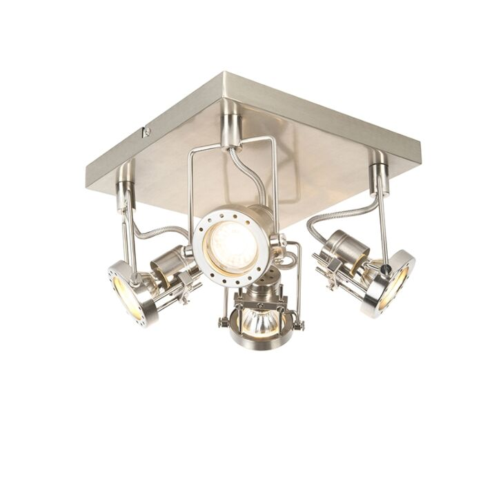 Industrial-spot-steel-4-light-swivel-and-tilt---Suplux