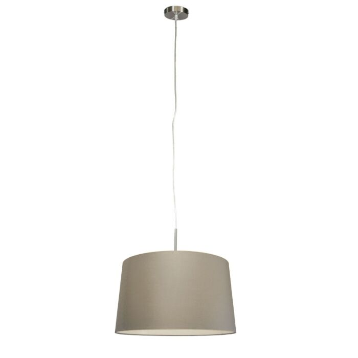 Modern-hanging-lamp-steel-with-shade-45-cm-taupe---Combi-1