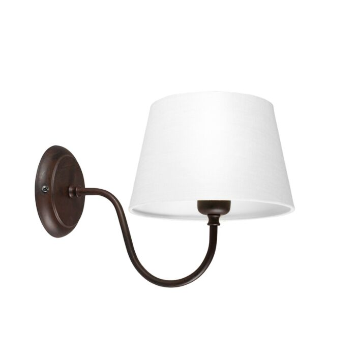 Wall-Lamp-Combi-Classic-Brown-with-White-Shade