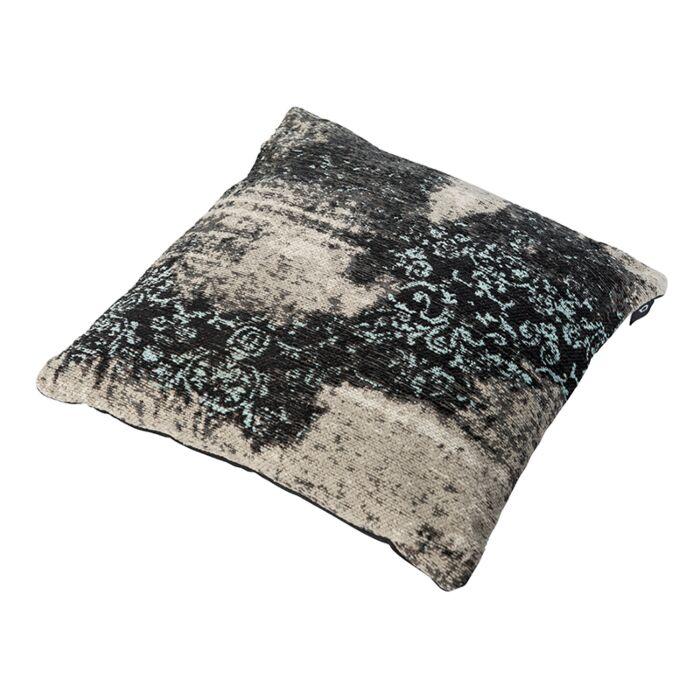 Vintage-Square-Pillow-Pattern-Black/Beige/Turquoise-45x45cm---Puri