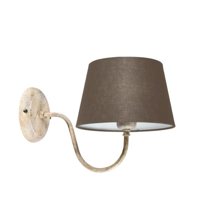 Wall-Lamp-Combi-Classic-Taupe-with-Taupe-Shade