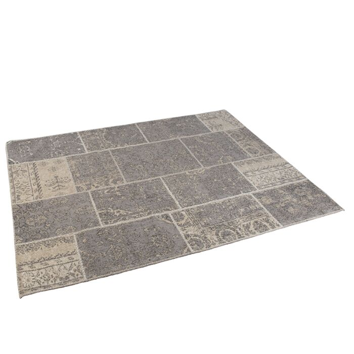 Vintage-Rug-Patch-Grey/Beige-160x230cm---Agra