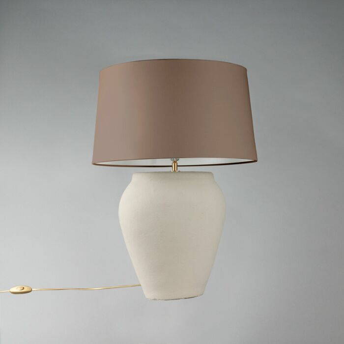 Table-Lamp-Blava-Oval-Grey-with-Taupe-Shade