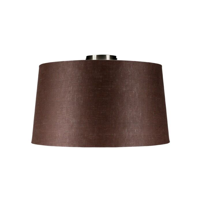 Ceiling-Lamp-Combi-Steel-with-Brown-Grey-Shade