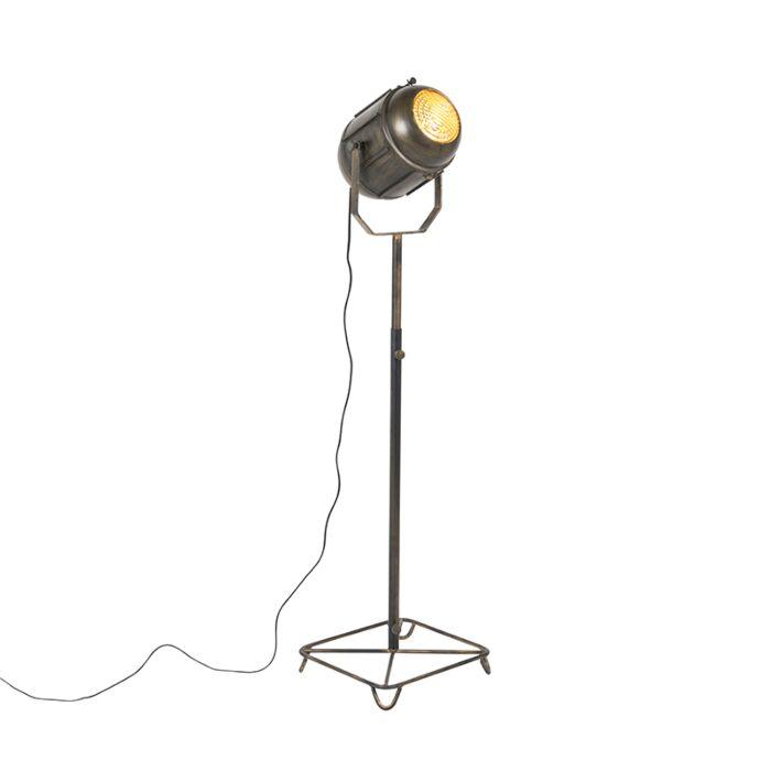 Industrial-floor-lamp-bronze-140-cm---Broca