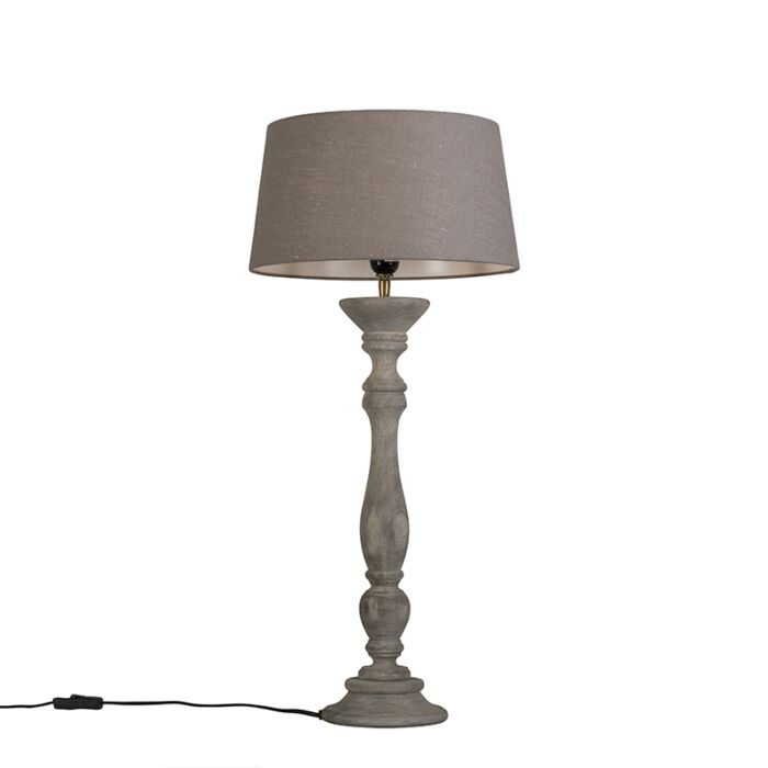 Table-Lamp-Ritual-Grey-with-Shade-35cm-Antique-Grey