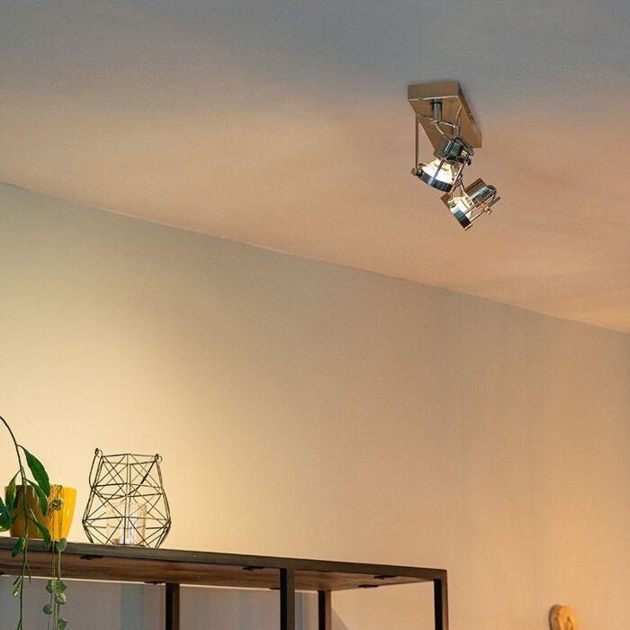 Industrial-spot-steel-2-light-swivel-and-tilt---Suplux