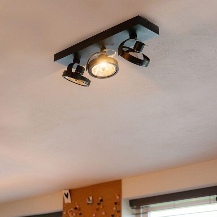 Design-spot-black-adjustable-3-light-incl.-LED---Go