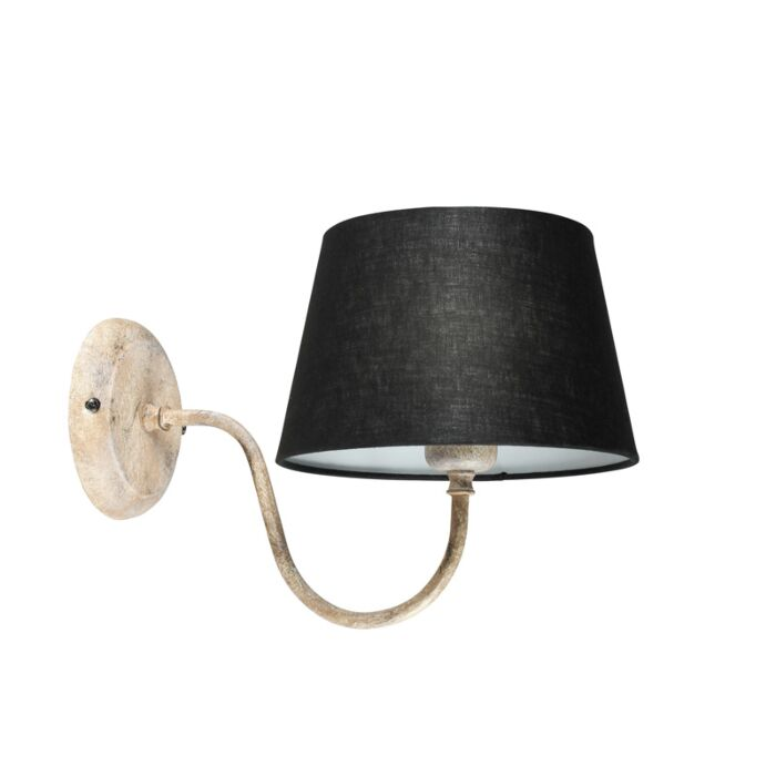 Wall-Lamp-Combi-Classic-Taupe-with-Black-Shade