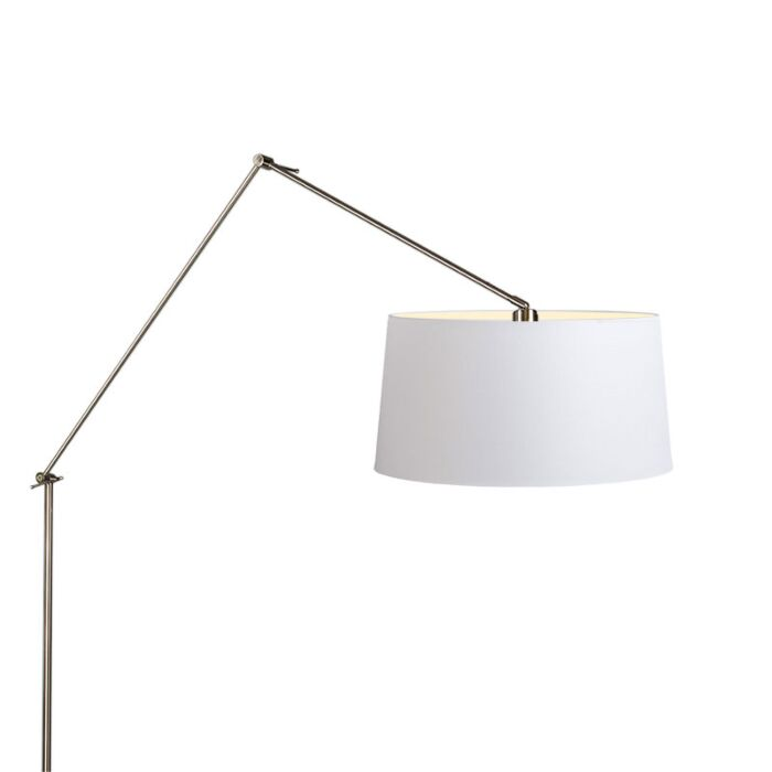 Floor-Lamp-Editor-Steel-with-White-Shade-45cm