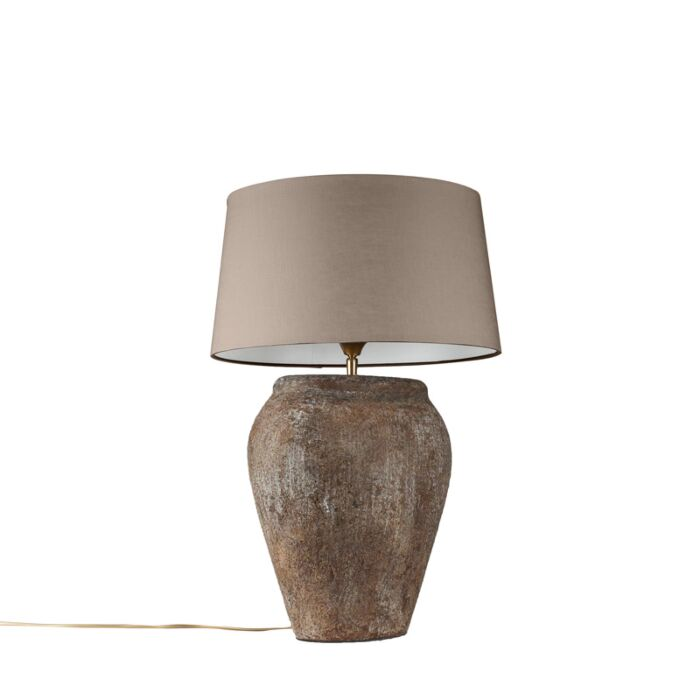 Table-Lamp-Blava-Oval-Vintage-with-Taupe-Shade